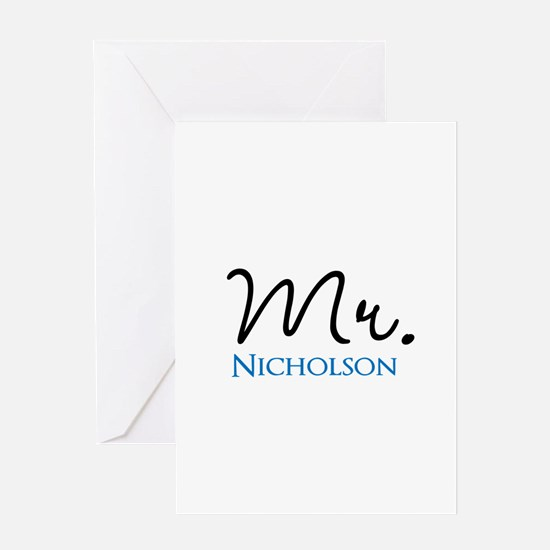 Customizable Mr and Mrs set - Mr Greeting Cards