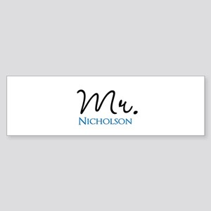 Customizable Mr and Mrs set - Mr Bumper Sticker