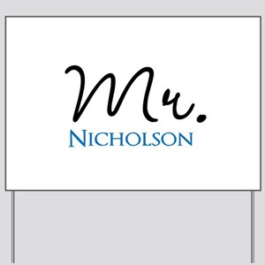 Customizable Mr and Mrs set - Mr Yard Sign