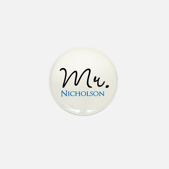 Customizable Mr and Mrs set - Mr Mini Button
