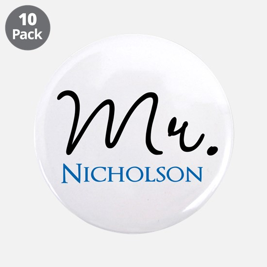 "Customizable Mr and Mrs set - Mr 3.5"" Button (10 p"