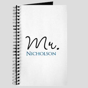 Customizable Mr and Mrs set - Mr Journal