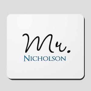 Customizable Mr and Mrs set - Mr Mousepad
