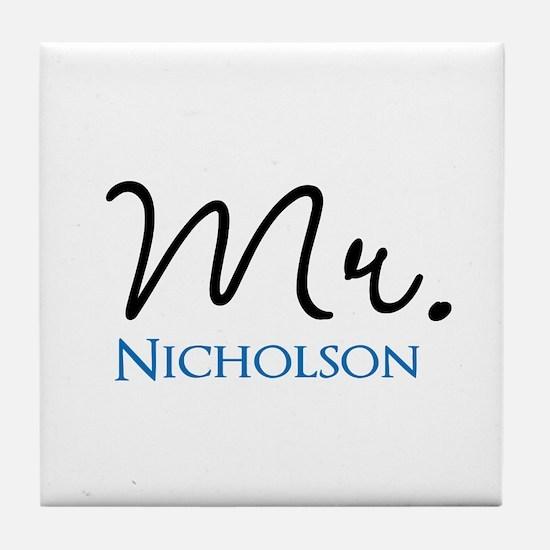 Customizable Mr and Mrs set - Mr Tile Coaster