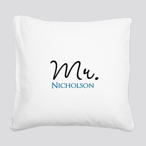 Customizable Mr and Mrs set - Mr Square Canvas Pil