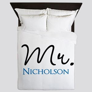 Customizable Mr and Mrs set - Mr Queen Duvet