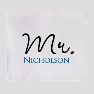 Customizable Mr and Mrs set - Mr Throw Blanket