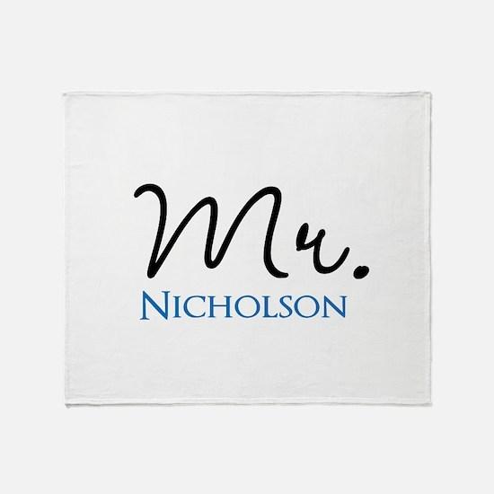 Customizable Mr and Mrs set - Mr Throw Blanket