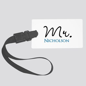 Customizable Mr and Mrs set - Mr Large Luggage Tag