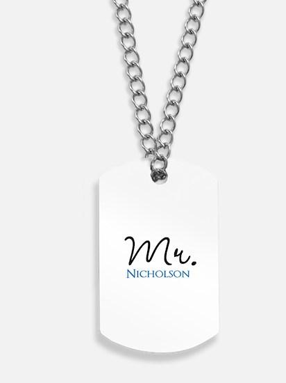 Customizable Mr and Mrs set - Mr Dog Tags