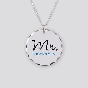Customizable Mr and Mrs set - Mr Necklace Circle C