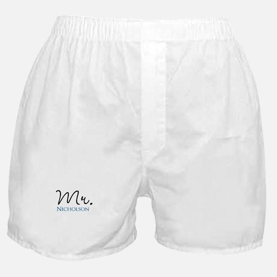 Customizable Mr and Mrs set - Mr Boxer Shorts