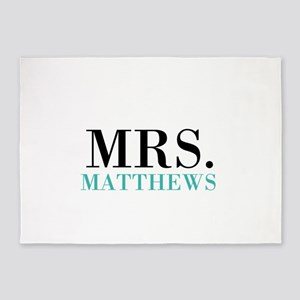 Custom name Mr and Mrs set - Mrs 5'x7'Area Rug