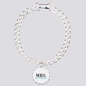 Custom name Mr and Mrs set - Mrs Charm Bracelet, O