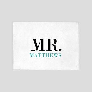 Custom name Mr and Mrs set - Mr 5'x7'Area Rug