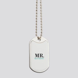 Custom name Mr and Mrs set - Mr Dog Tags