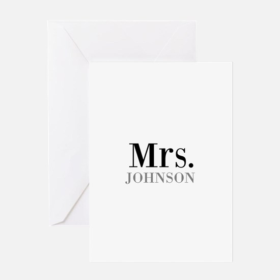 Customized Mr and Mrs set - Mrs Greeting Cards