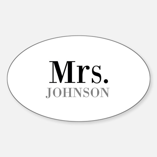 Customized Mr and Mrs set - Mrs Decal
