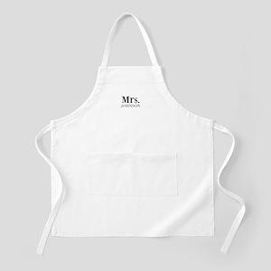 Customized Mr and Mrs set - Mrs Apron