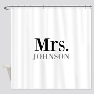 Customized Mr and Mrs set - Mrs Shower Curtain