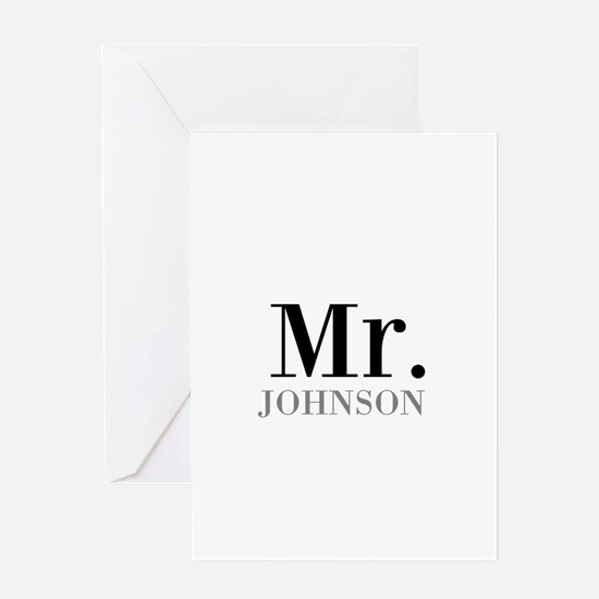 Customized Mr and Mrs set - Mr Greeting Cards