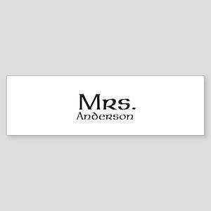 Personalized Mr and Mrs set - Mrs Bumper Sticker