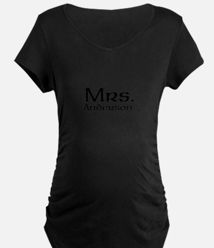 Personalized Mr and Mrs set - Mrs Maternity T-Shir
