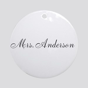 Half of Mr and Mrs set - Mrs Ornament (Round)