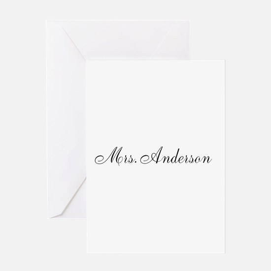 Half of Mr and Mrs set - Mrs Greeting Cards