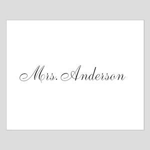 Half of Mr and Mrs set - Mrs Poster Design