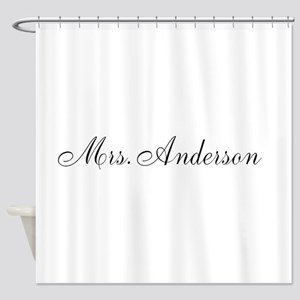 Half of Mr and Mrs set - Mrs Shower Curtain