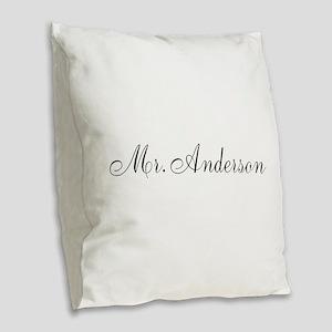 Half of Mr and Mrs set - Mr Burlap Throw Pillow