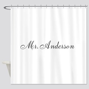 Half of Mr and Mrs set - Mr Shower Curtain