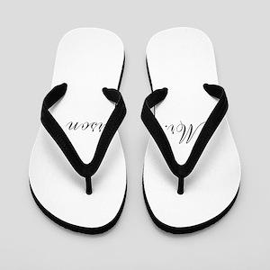 6c040d907 Bride And Groom Matching Flip Flops - CafePress