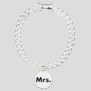 Half of Mr and Mrs set - Mrs Charm Bracelet, One C