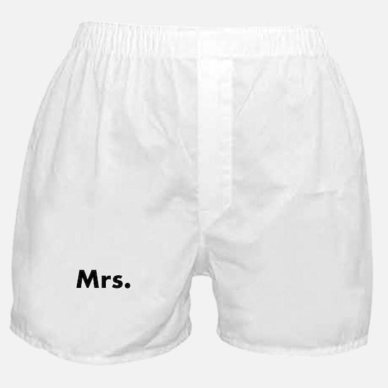 Half of Mr and Mrs set - Mrs Boxer Shorts