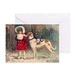 Borzoi Christmas Cards 10 PK