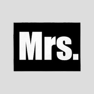 Mrs half of couples set - Black 5'x7'Area Rug