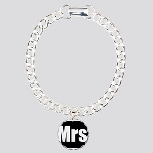Mrs half of couples set - Black Charm Bracelet, On