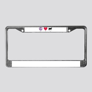 Peace - Love - Cattle License Plate Frame