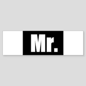 Mr half of couples set - Black Bumper Sticker