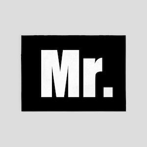 Mr half of couples set - Black 5'x7'Area Rug