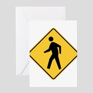 Pedestrian Greeting Cards