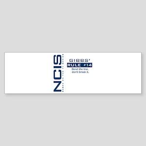 Gibbs' Rule #14 Sticker (Bumper)