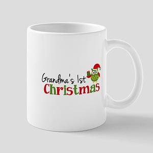 Grandma's 1st Christmas Owl Mug