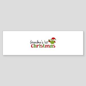 Grandma's 1st Christmas Owl Sticker (Bumper)