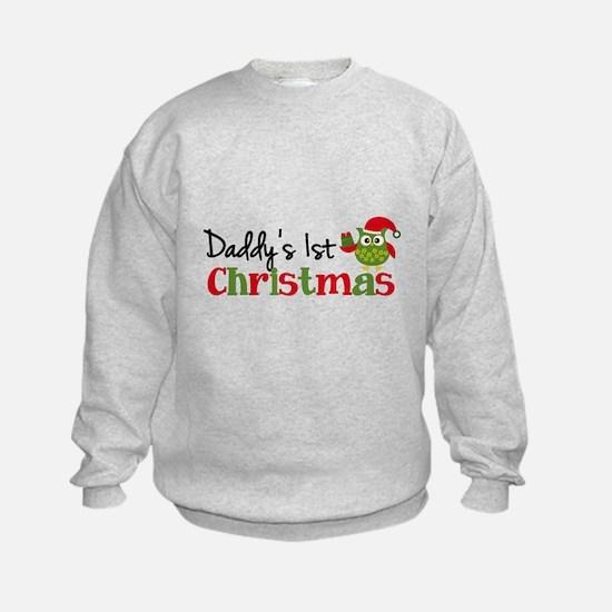 Daddy's 1st Christmas Owl Sweatshirt