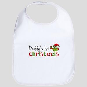 Daddy's 1st Christmas Owl Bib