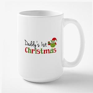 Daddy's 1st Christmas Owl Large Mug