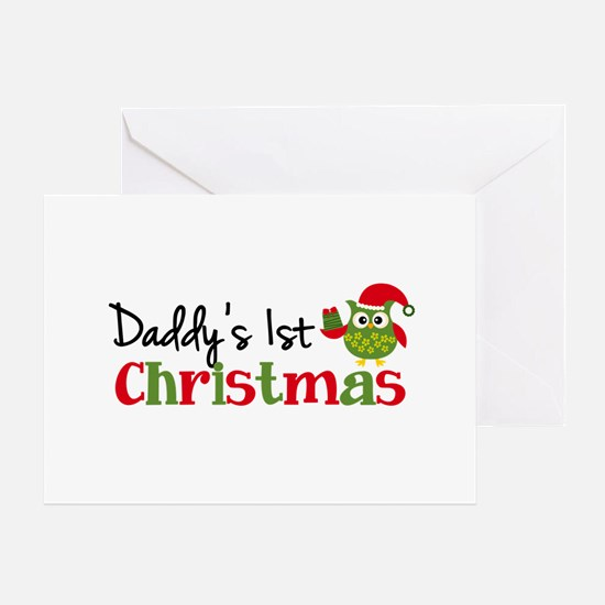 Daddy's 1st Christmas Owl Greeting Card